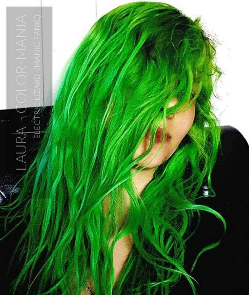 Merci Laura :) Coloration Cheveux Vert Electric Lizard UV - Manic Panic | Color-Mania