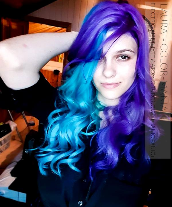 Merci Laura :) Coloration Cheveux Violet Electric Amethyst - Manic Panic   Color-Mania