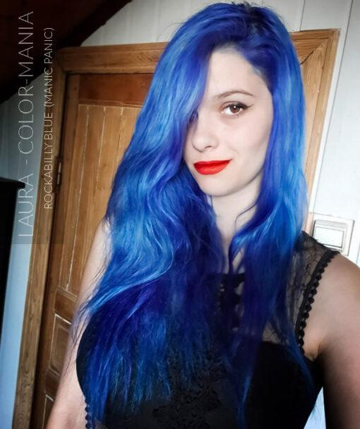 Merci Laura :) Coloration Cheveux Bleu Rockabilly Blue - Manic Panic | Color-Mania
