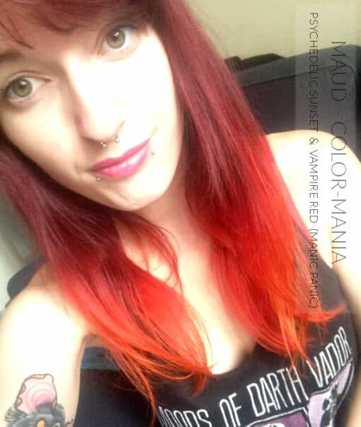 Merci Maud :) Coloration Cheveux Orange Psychedelic Sunset - Manic Panic | Color-Mania