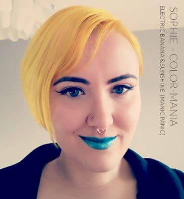 Merci Sophie :) Coloration Cheveux Jaune Sunshine - Manic Panic | Color-Mania