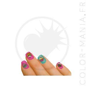 Stickers Ongles Parfum Chocolat - Nail Art | Color-Mania