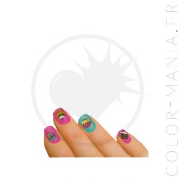Stickers Ongles Parfum Chocolat - Nail Art | Color-Mania