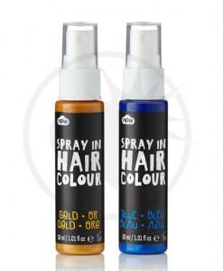 Spray Cheveux Colorant - Bleu et Doré   Color-Mania