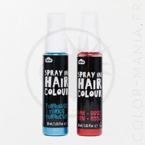 Spray Cheveux Colorant - Rose et Turquoise | Color-Mania