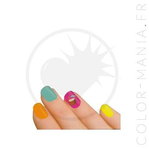 Stickers Ongles Parfum Noix de Coco - Nail Art | Color-Mania