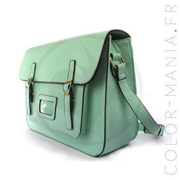 Satchel - Sac Cartable Vert Menthe | Color-Mania