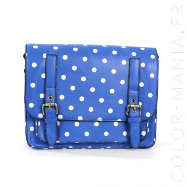 Satchel - Sac à Main Bleu à Pois | Color-Mania