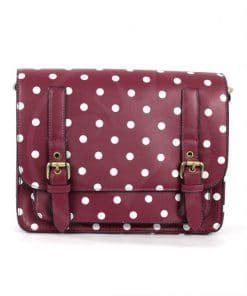 Cartella - Borsa Bordeaux Pois | Color-Mania