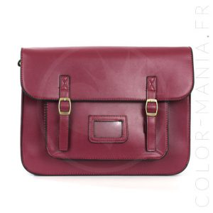 Satchel - Sac Cartable Bordeaux | Color-Mania