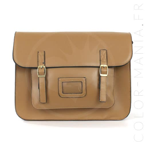 Satchel - Bolso Satchel Camel Brown | Color-Mania