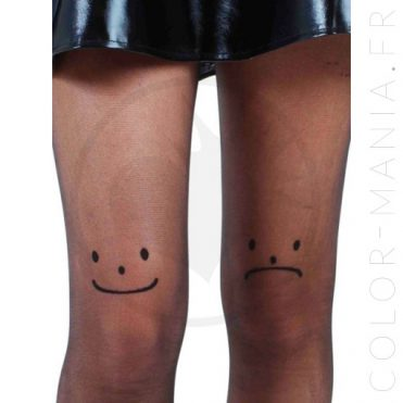 Collants Fantaisie Smiley | Color-Mania