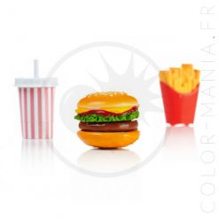 Gloss Burger, Frites, Milk-Shake | Color-Mania