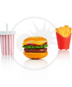 Gloss Burger, papas fritas, batido de leche | Color-Mania