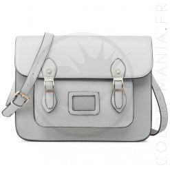 Sac Cartable Satchel Gris Souris | Color-Mania