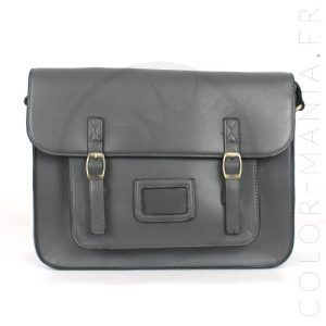 Satchel - Sac Cartable Gris Anthracite | Color-Mania