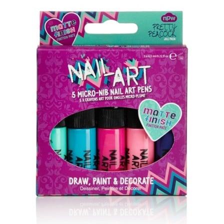 kit 5 vernis ongles nail art mat color mania. Black Bedroom Furniture Sets. Home Design Ideas