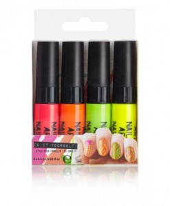 Kit 4 Vernis à Ongles Nail Art Fluo | Color-Mania