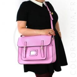 Satchel - Sac Cartable Rose Bonbon | Color-Mania
