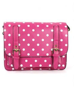 Satchel - Sac à Main Rose Fuchsia à Pois | Color-Mania