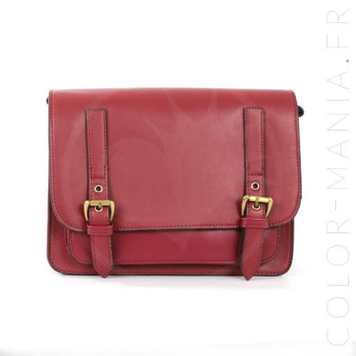 satchel sac main rouge fonc color mania - Sac A Main Color