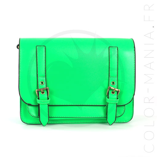 Satchel - Sac à Main Vert Fluo | Color-Mania