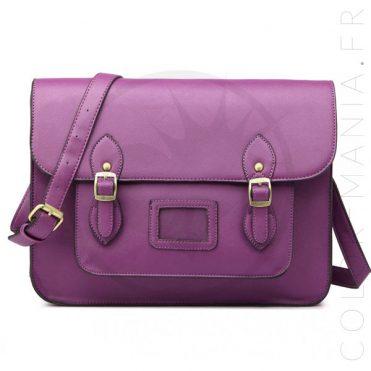 Sac Cartable Satchel Violet | Color-Mania