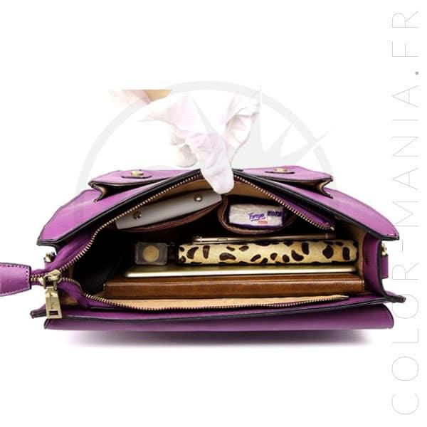Mochila satchel morado | Color-Mania