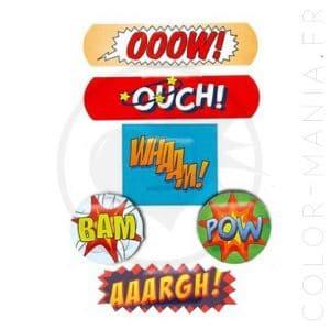 Boîte Métal Pansements Comic Strips | Color-Mania