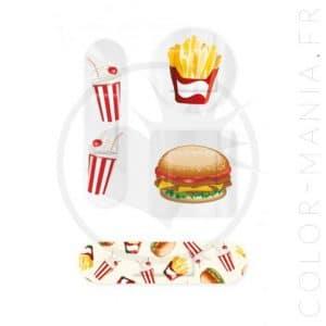 Boîte Métal Pansements Fast Food | Color-Mania