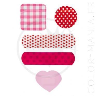 Boîte Métal Pansements Petits Coeurs | Color-Mania