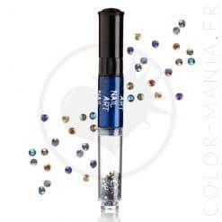 Vernis à Ongles Nail Art 3 en 1 Bleu Métallisé | Color-Mania