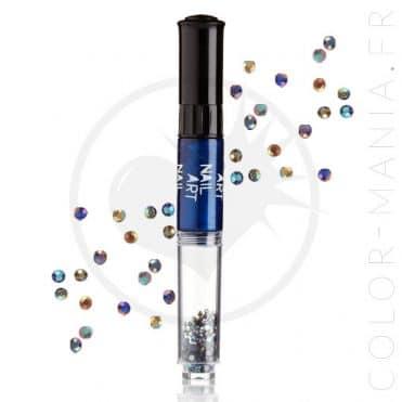 Vernis à Ongles Nail Art 3 en 1 Bleu Métallisé   Color-Mania