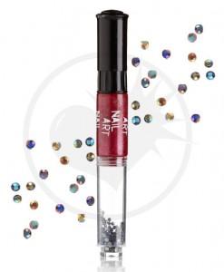 Vernis à Ongles Nail Art 3 en 1 Rouge Métallisé | Color-Mania