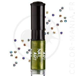 Vernis à Ongles Nail Art 3 en 1 Vert Métallisé | Color-Mania