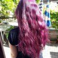 Merci Melanie :) Coloration Cheveux Violet Deep Purple Dream – Manic Panic – Base blond fonce non decoloree   Color-Mania