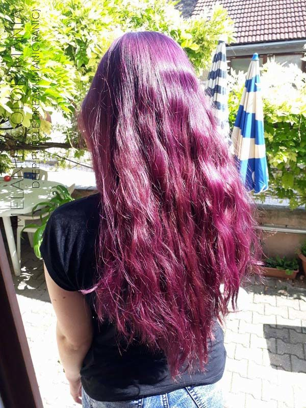 Gracias Melanie :) Purple Deep Purple Dream Hair Coloring - Manic Panic - Dark Blonde Base no se desvaneció | Color-Mania