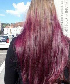 Merci Melanie :) Coloration Cheveux Violet Deep Purple Dream – Manic Panic - Base blond fonce non decoloree | Color-Mania
