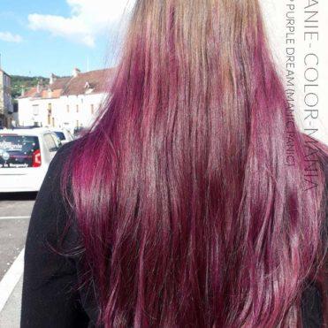 Merci Melanie :) Coloration Cheveux Violet Deep Purple Dream – Manic Panic - Base blond fonce non decoloree   Color-Mania