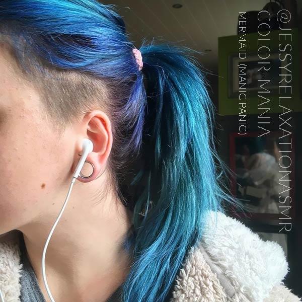 Merci @jessyrelaxationasmr :) Coloration Cheveux Bleu Sirène Mermaid - Manic Panic | Color-Mania
