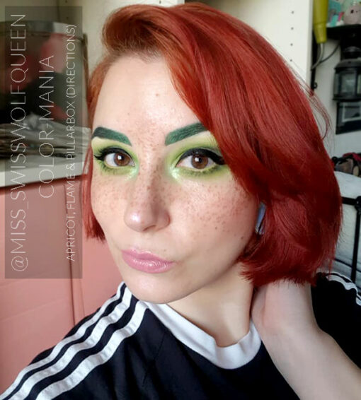 """Merci @miss_swisswolfqueen :) Coloration Cheveux Rouge """"Pillarbox"""" – Directions 