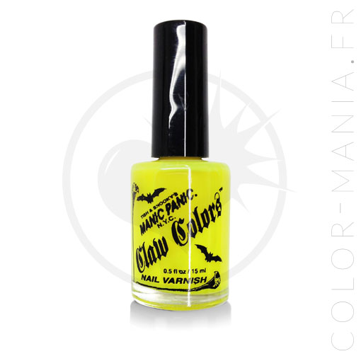 Plátano Yellow Fluo Electric Nail Polish - Manic Panic | Color-Mi