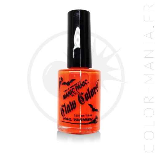 Naranja Fluo Electric Wash Nail Polish - Manic Panic | Color-Mania
