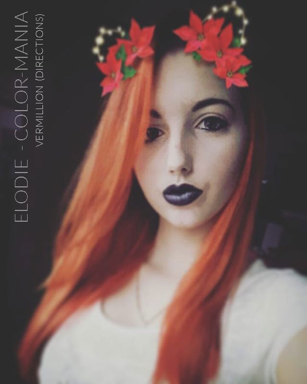 Merci Elodie :) Coloration Cheveux Rouge Vermillon - Directions | Color-Mania