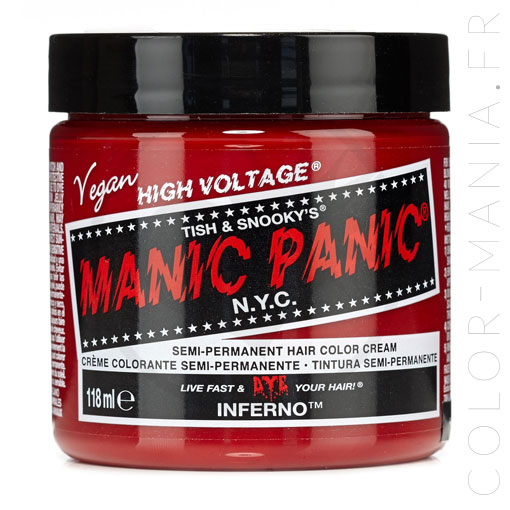 Coloration Cheveux Rouge Inferno - Manic Panic | Color-Mania