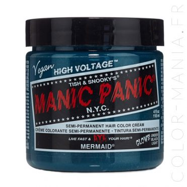 Coloration Cheveux Bleu Sirène Mermaid - Manic Panic | Color-Mania
