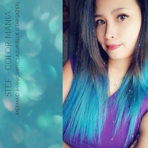 Merci Stef :) Coloration Cheveux Bleu Sirène Mermaid - Manic Panic   Color-Mania