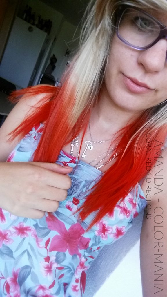 Merci Amanda :) Coloration cheveux Coral Red Directions | Color-Mania