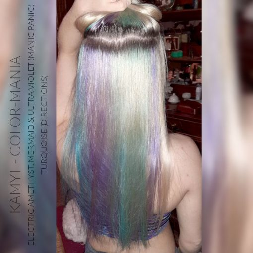 Merci Kamyi :) Coloration Cheveux Violet Electric Amethyst - Manic Panic | Color-Mania