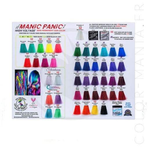 Nuancier Colorations Manic Panic | Color-Mania.fr